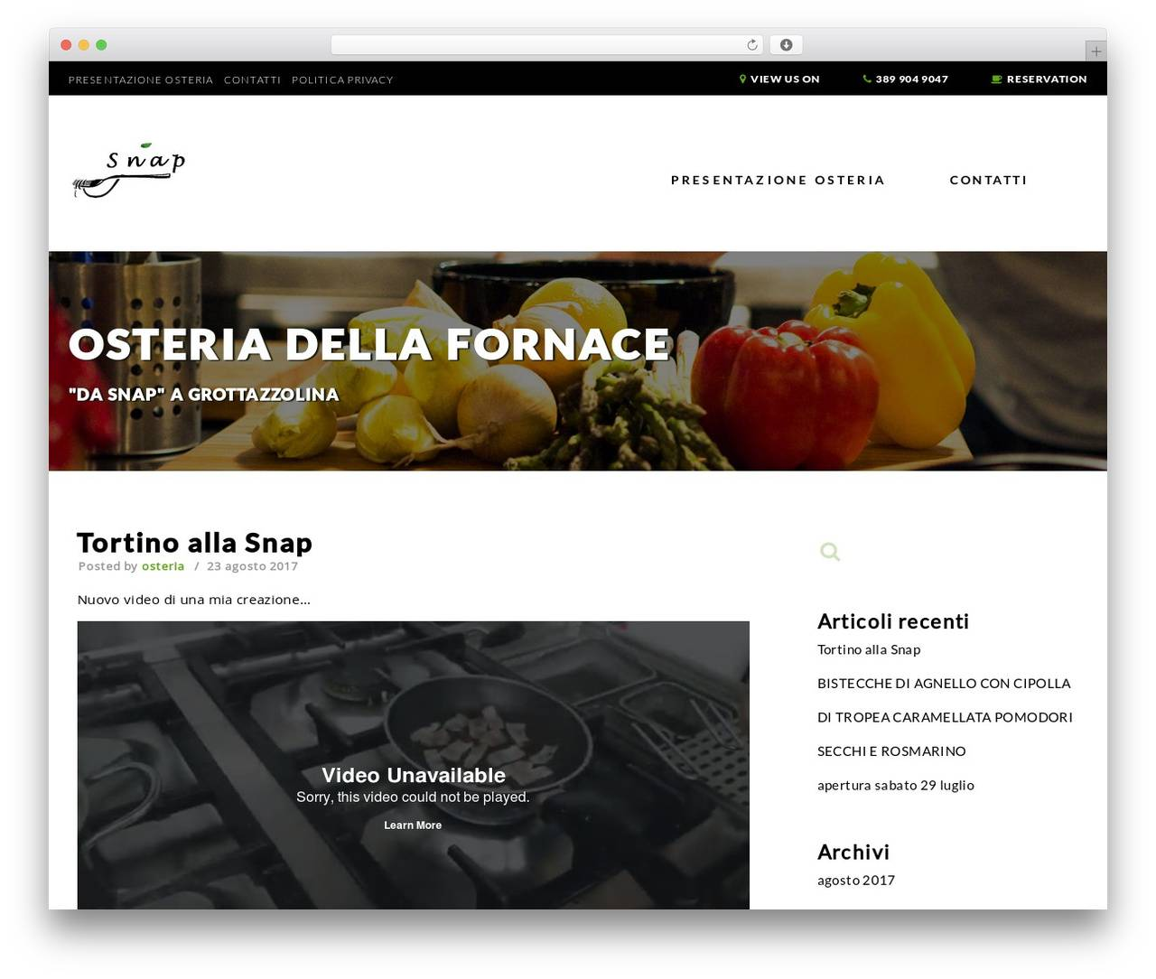 Restaurant Template WordPress Free