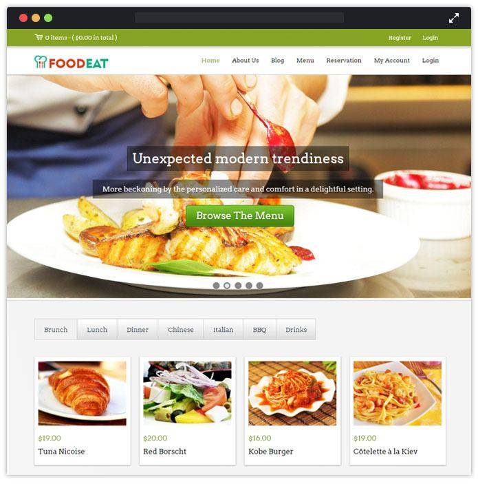 Restaurant Templates WordPress Free