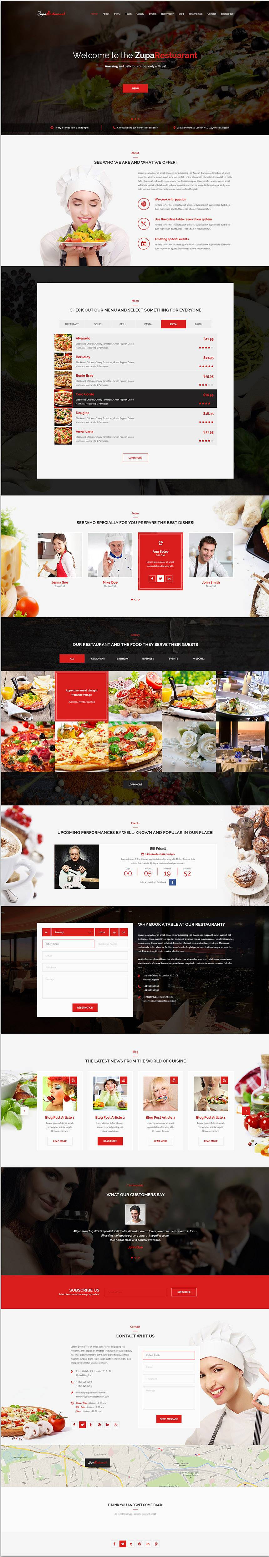 Restaurant Website Templates Psd Free Download