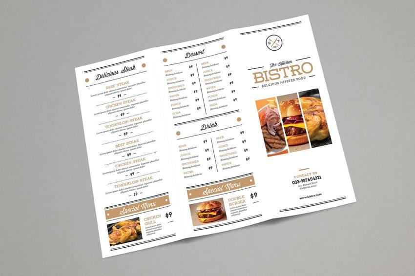 Restaurants Menu Design Templates