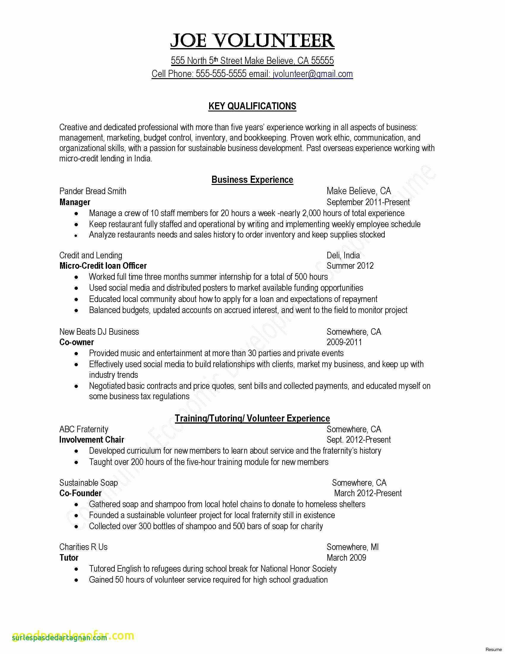 Resume Builder Template For Students