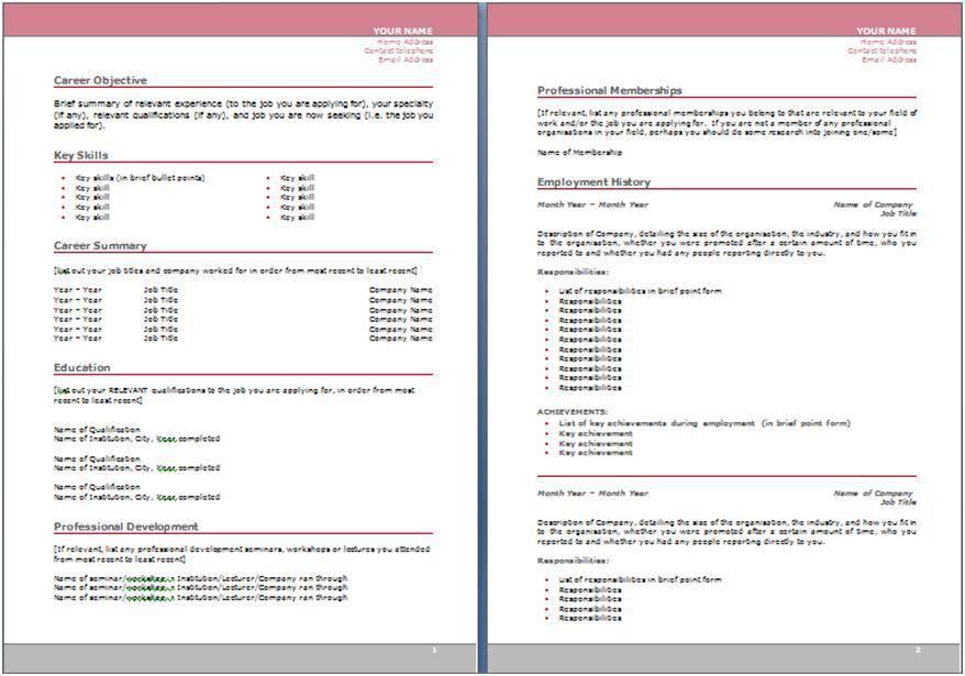 Resume Builder Template Pdf