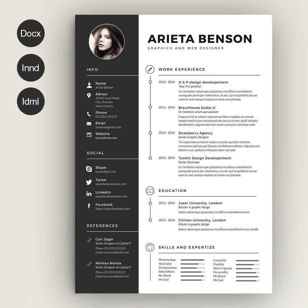 Resume Cv Template Creative