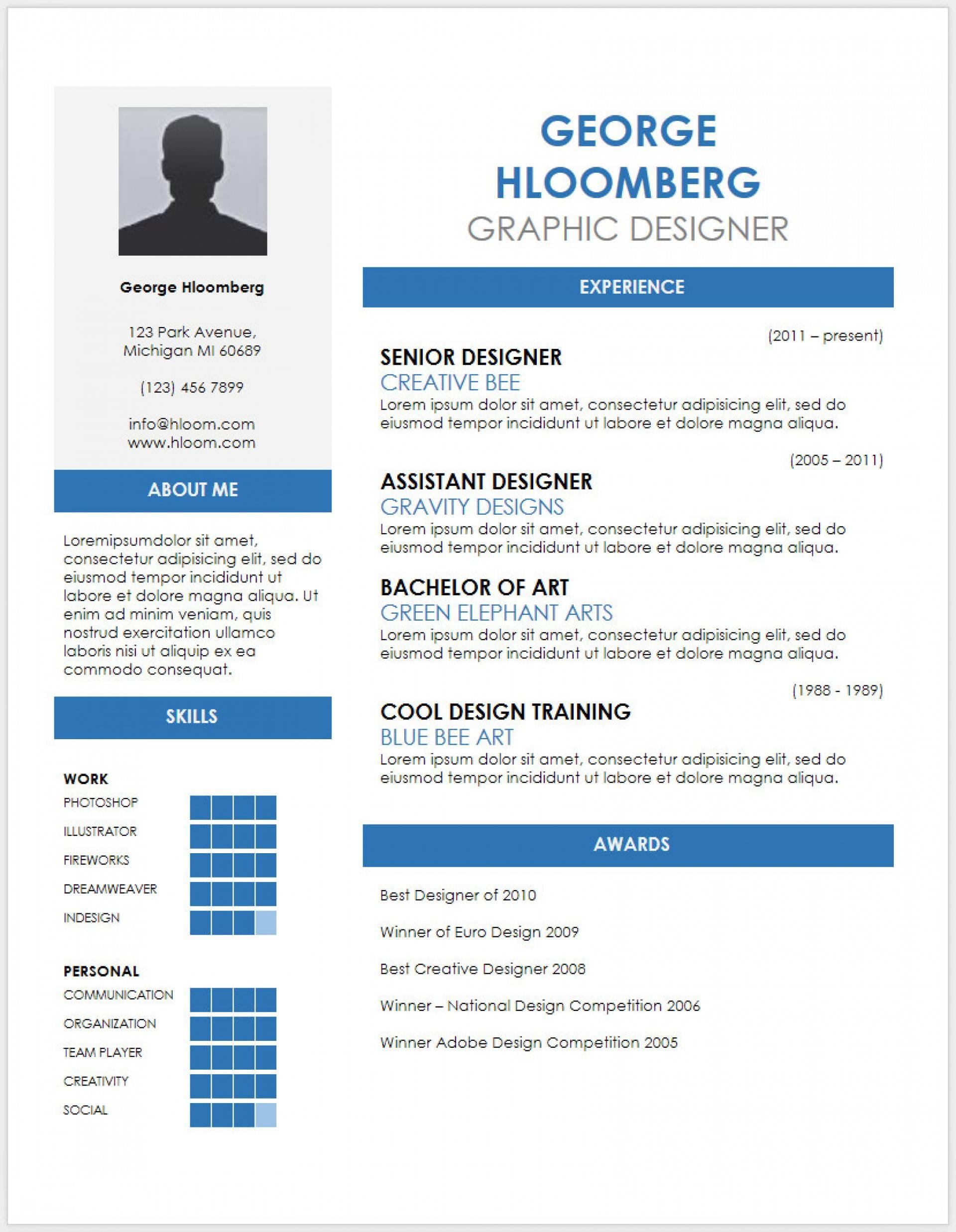 Resume Cv Template Docx