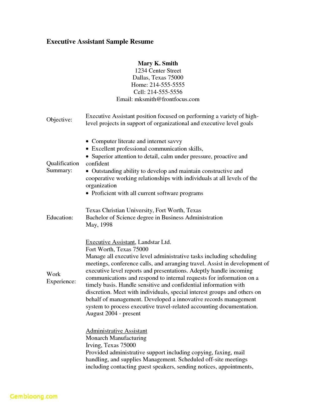 Resume Examples For Medical Administrative Assistant