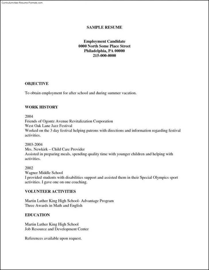 Resume Examples Printable