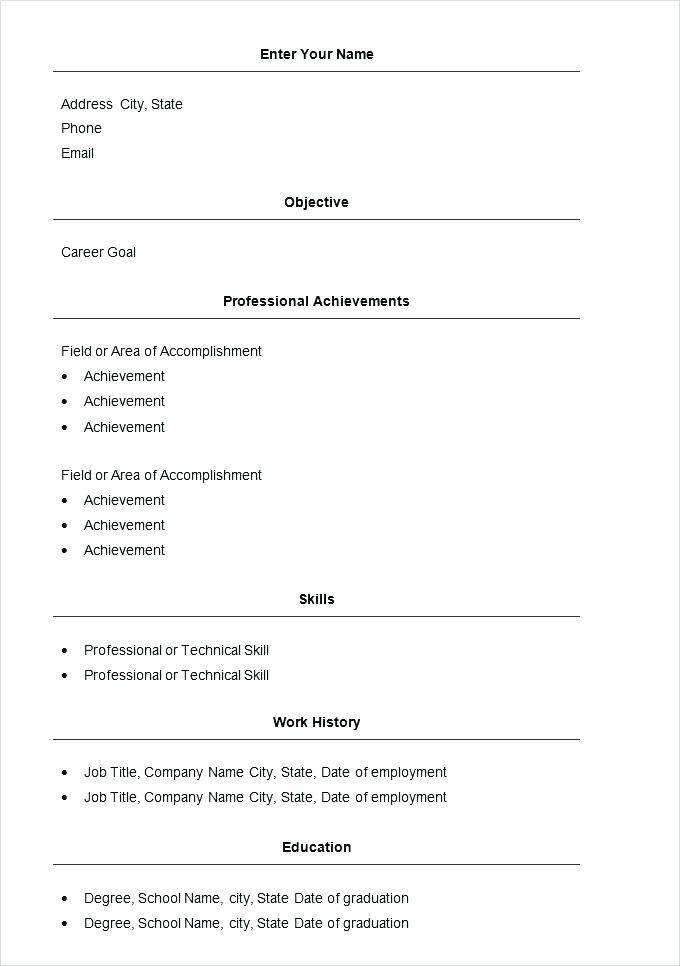 Resume Format Pdf Download For Experience
