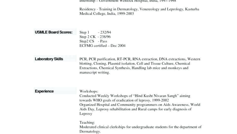 Resume Outline Format Free