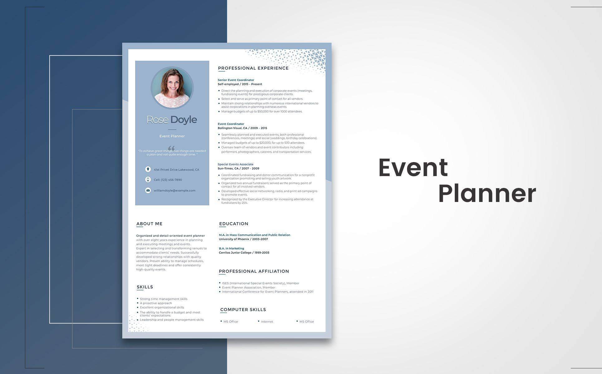 Resume Portfolio Design Templates