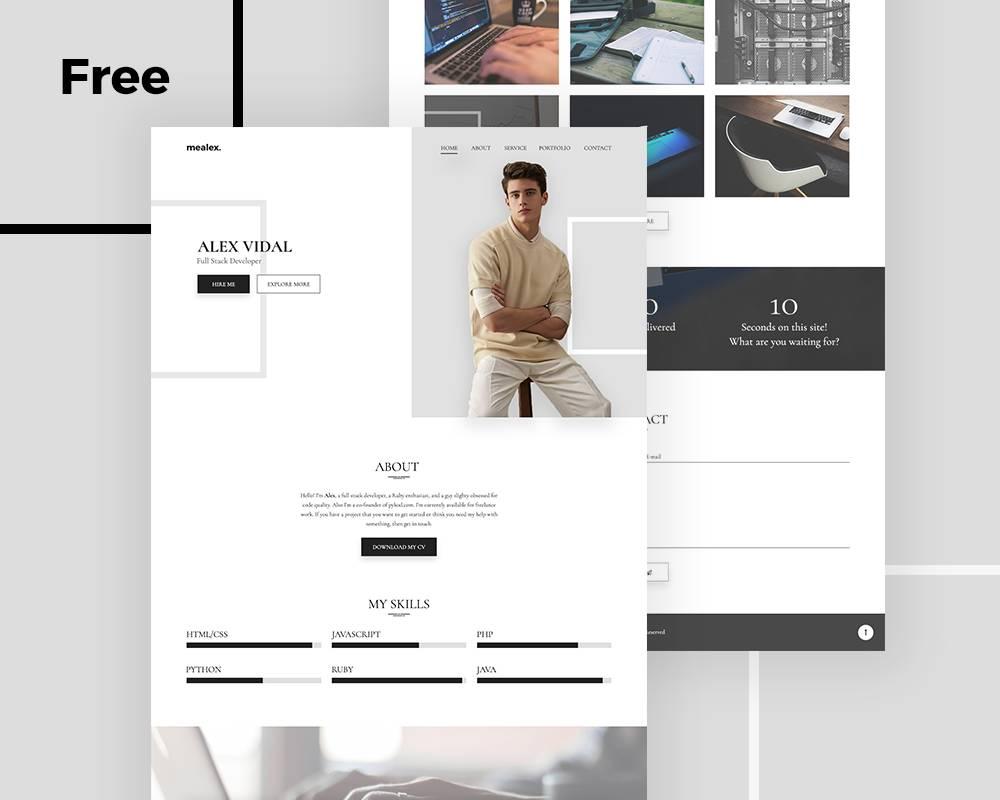 Resume Portfolio Template Free