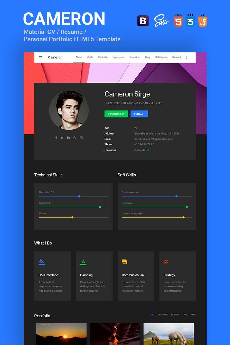 Resume Portfolio Template Html