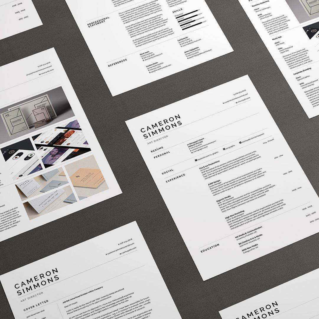 Resume Portfolio Template Word