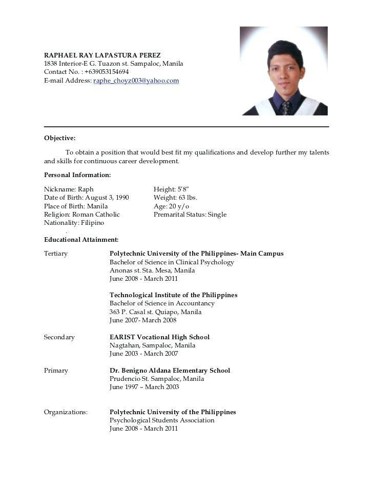 Resume Samples Doc Free Download