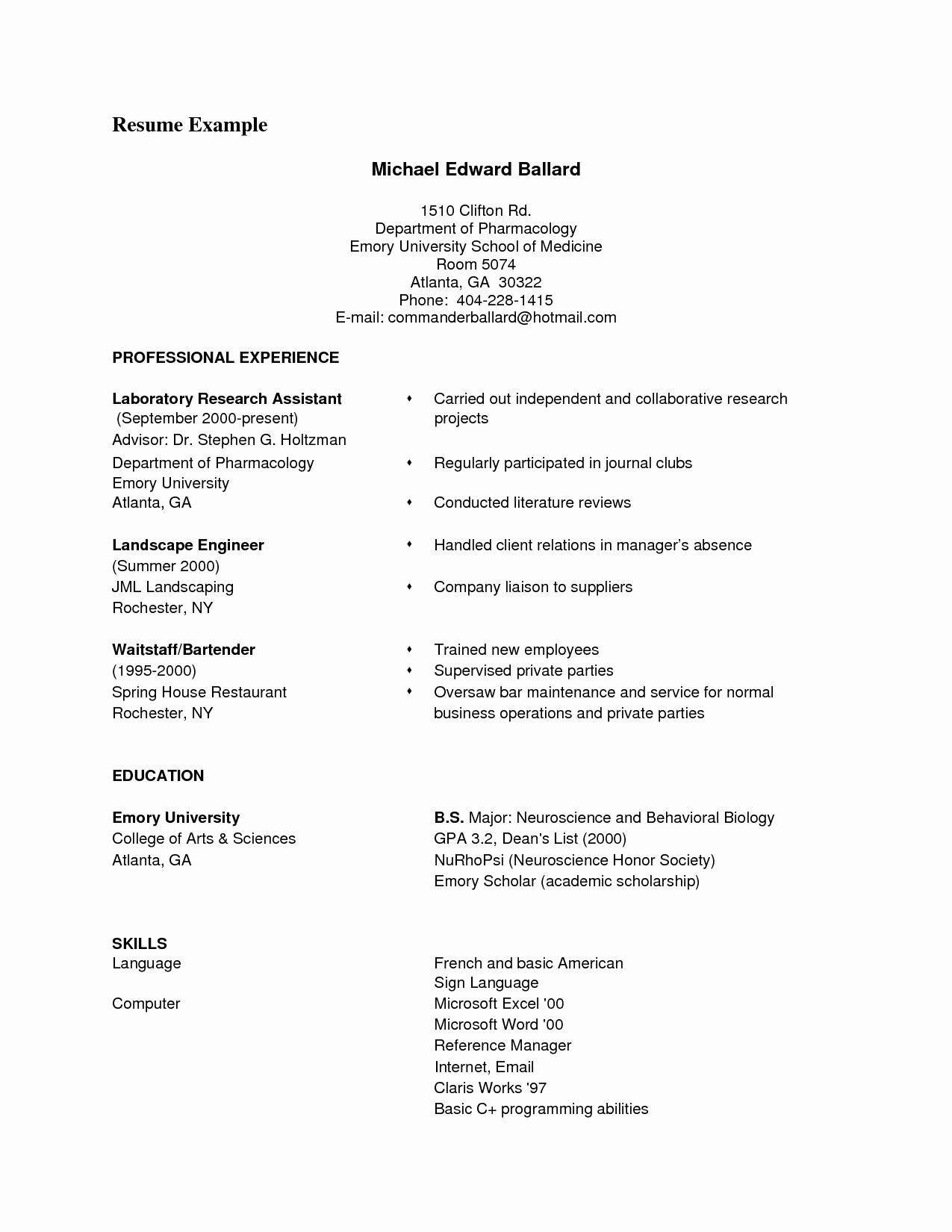 Resume Samples Pdf Free Download