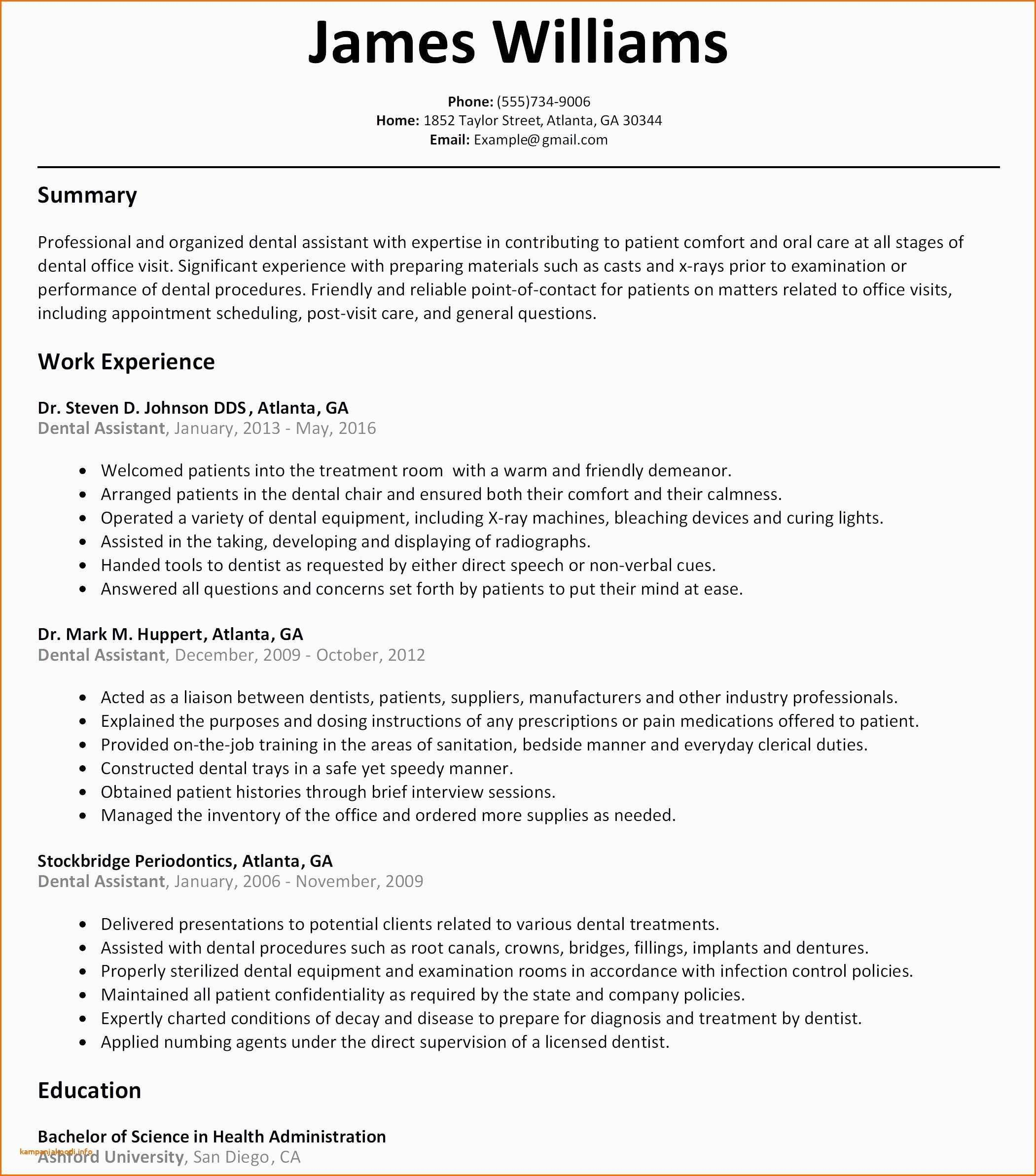 Resume Summary Examples For Medical Assistant