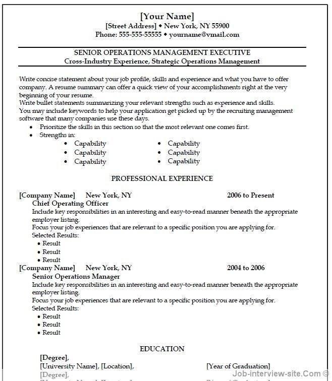 Resume Teacher Templates Microsoft Word