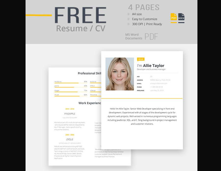 Resume Template Docx