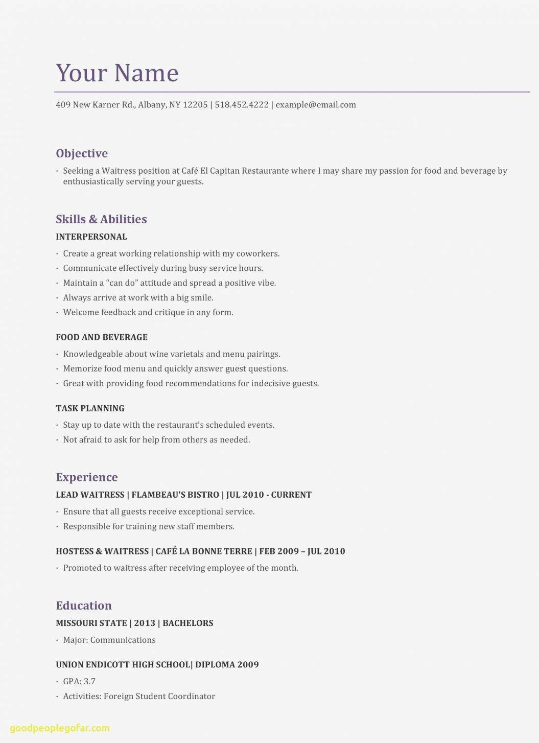Resume Template Example Australia