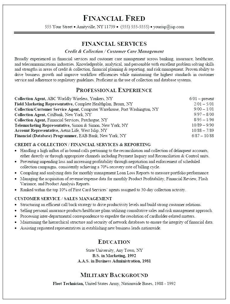 Resume Template For Call Center Job