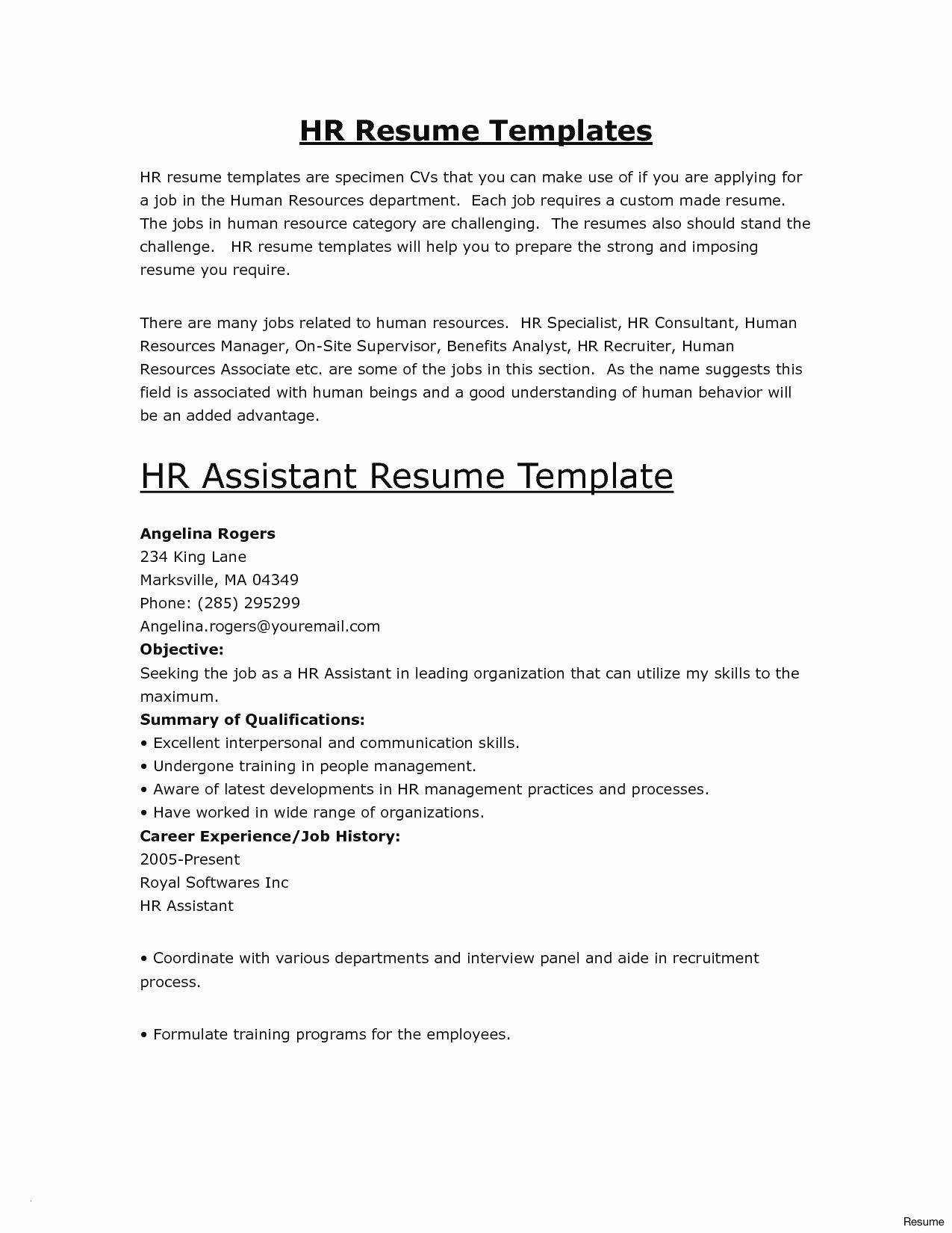 Resume Template For Retail Assistant