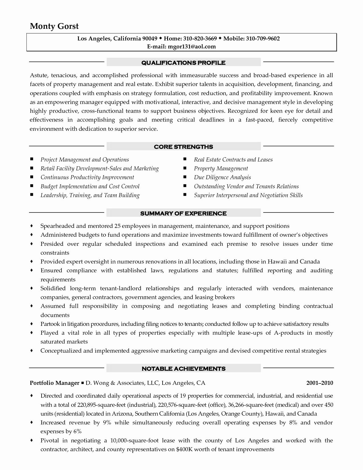 Resume Template For Sales Director