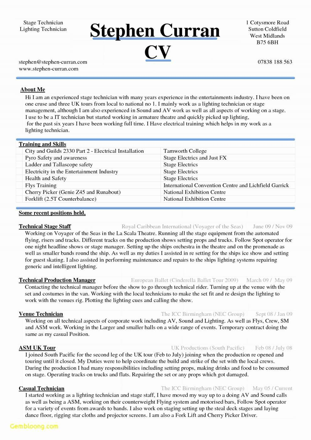 Resume Template Gratis