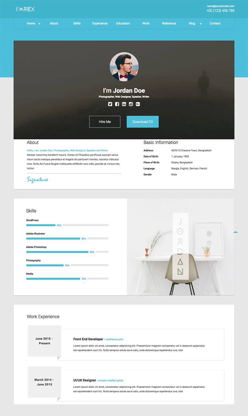 Resume Template Html
