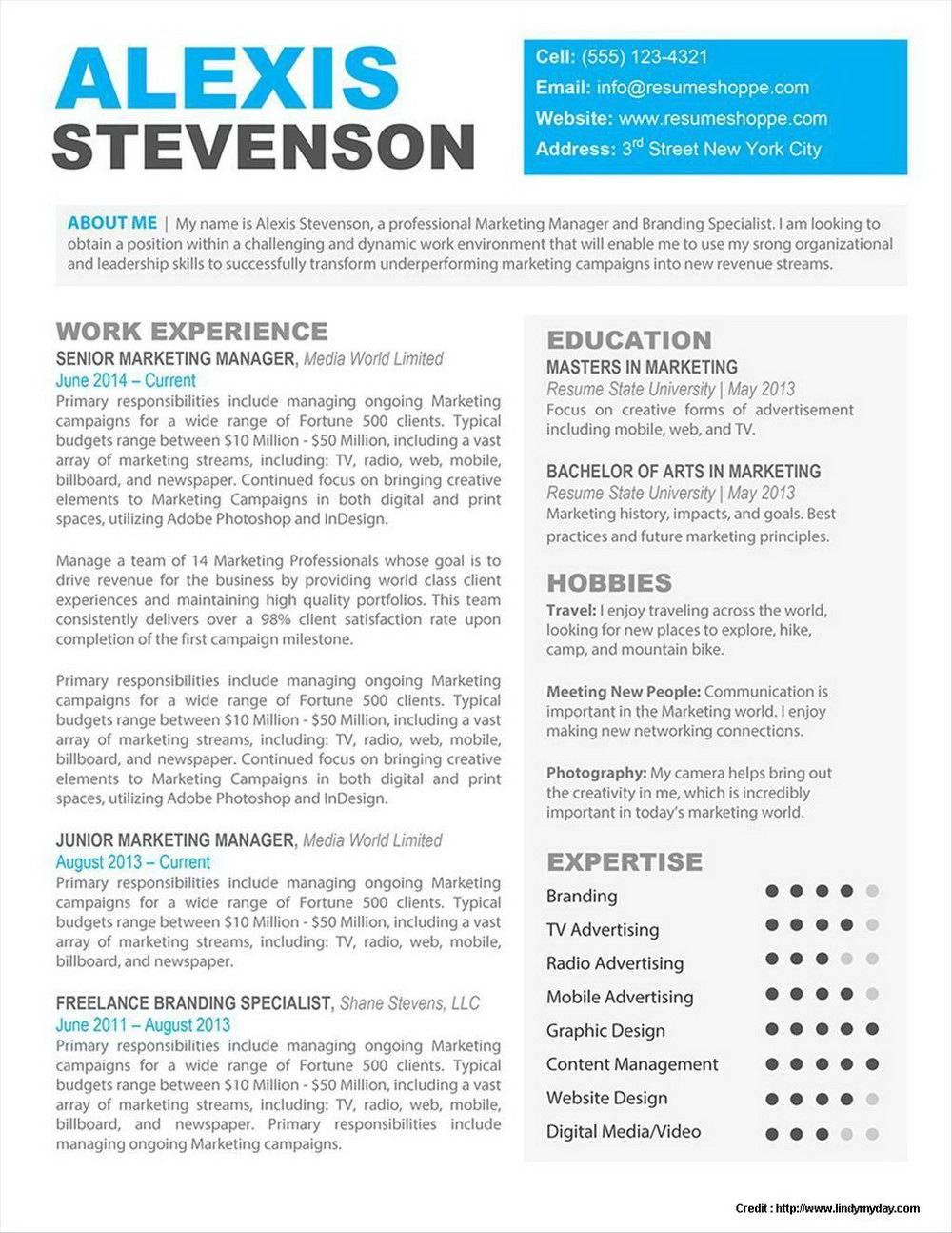 Resume Template Mac Word