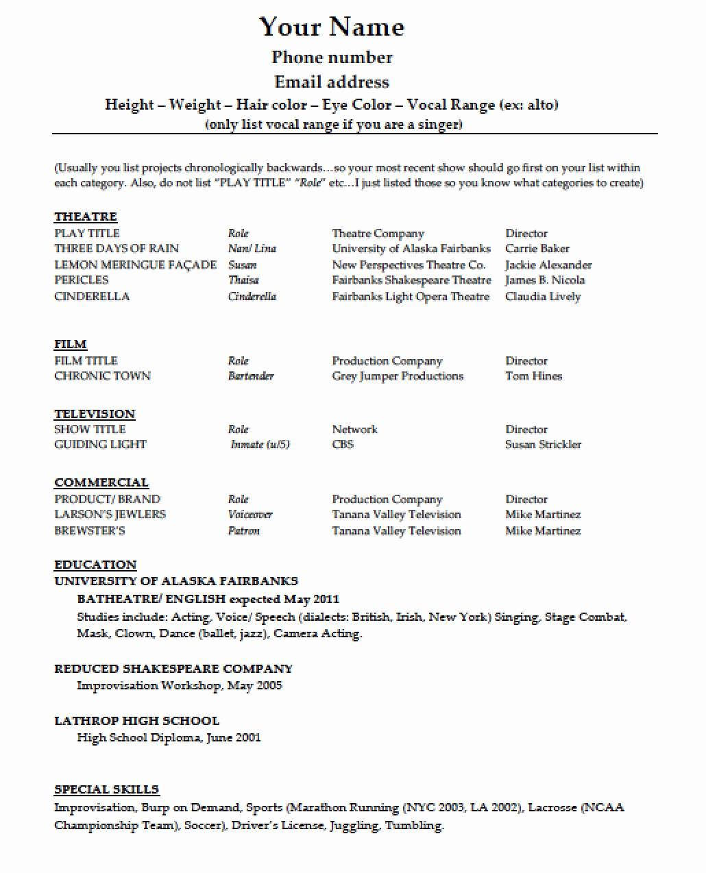 Resume Template Pdf Download