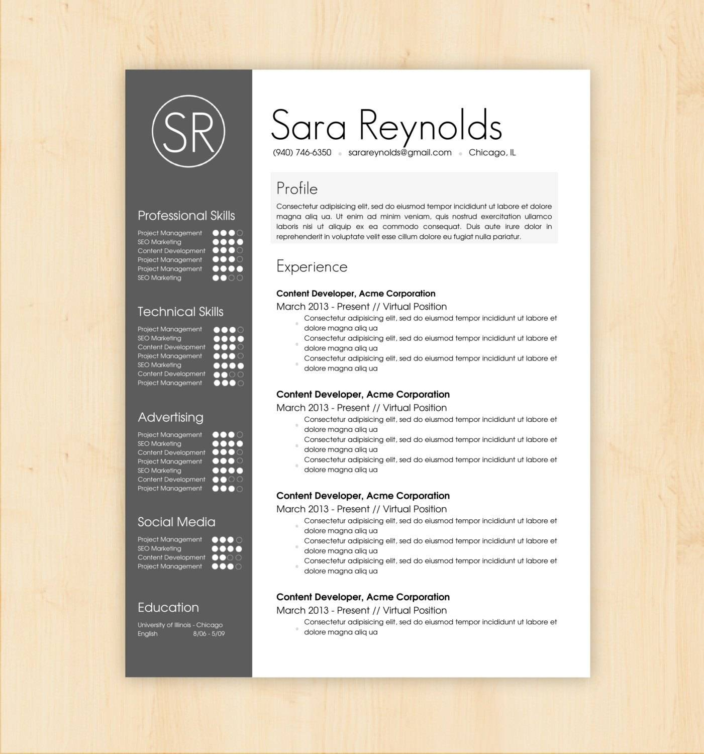 Resume Template Word Format Free Download