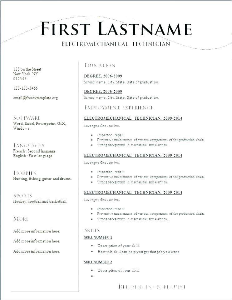 Resume Template Word Free Download Australia