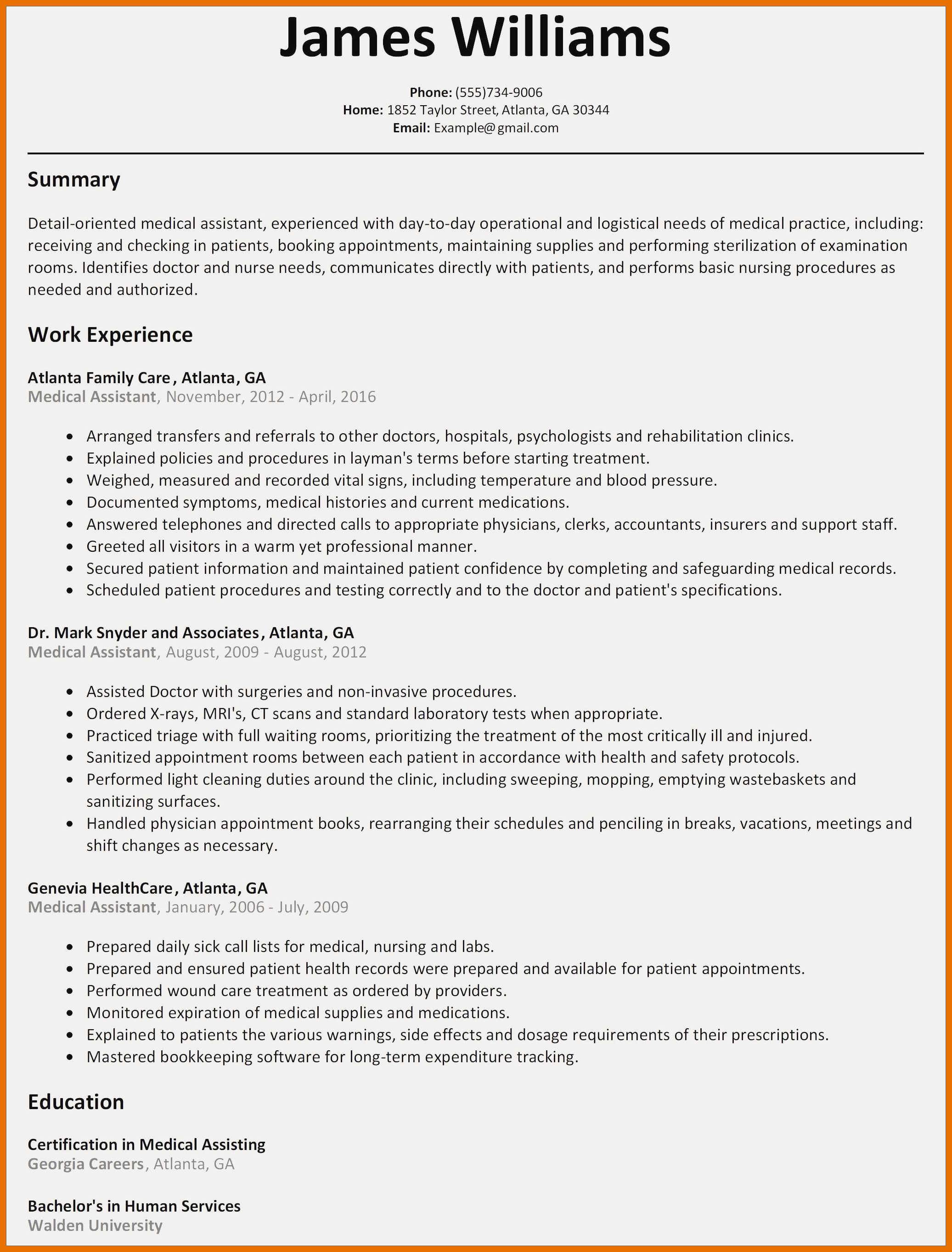Resume Templates Child Care Director
