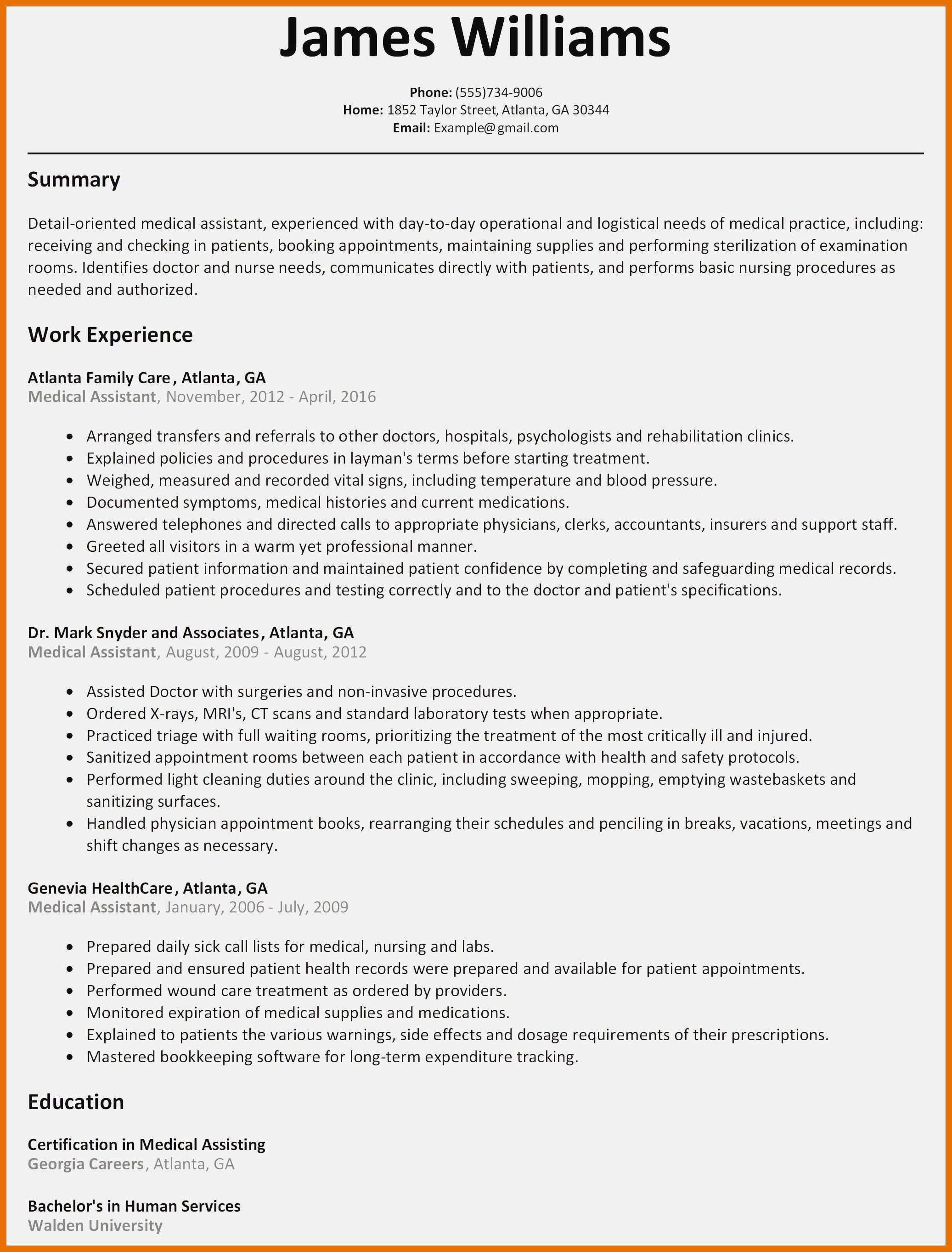 Resume Templates Child Care Director