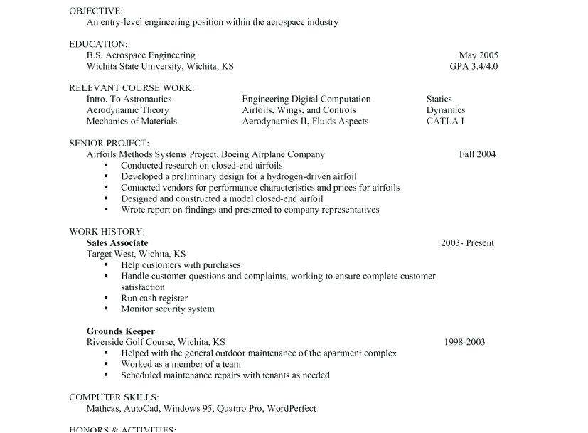 Resume Templates College Students No Experience