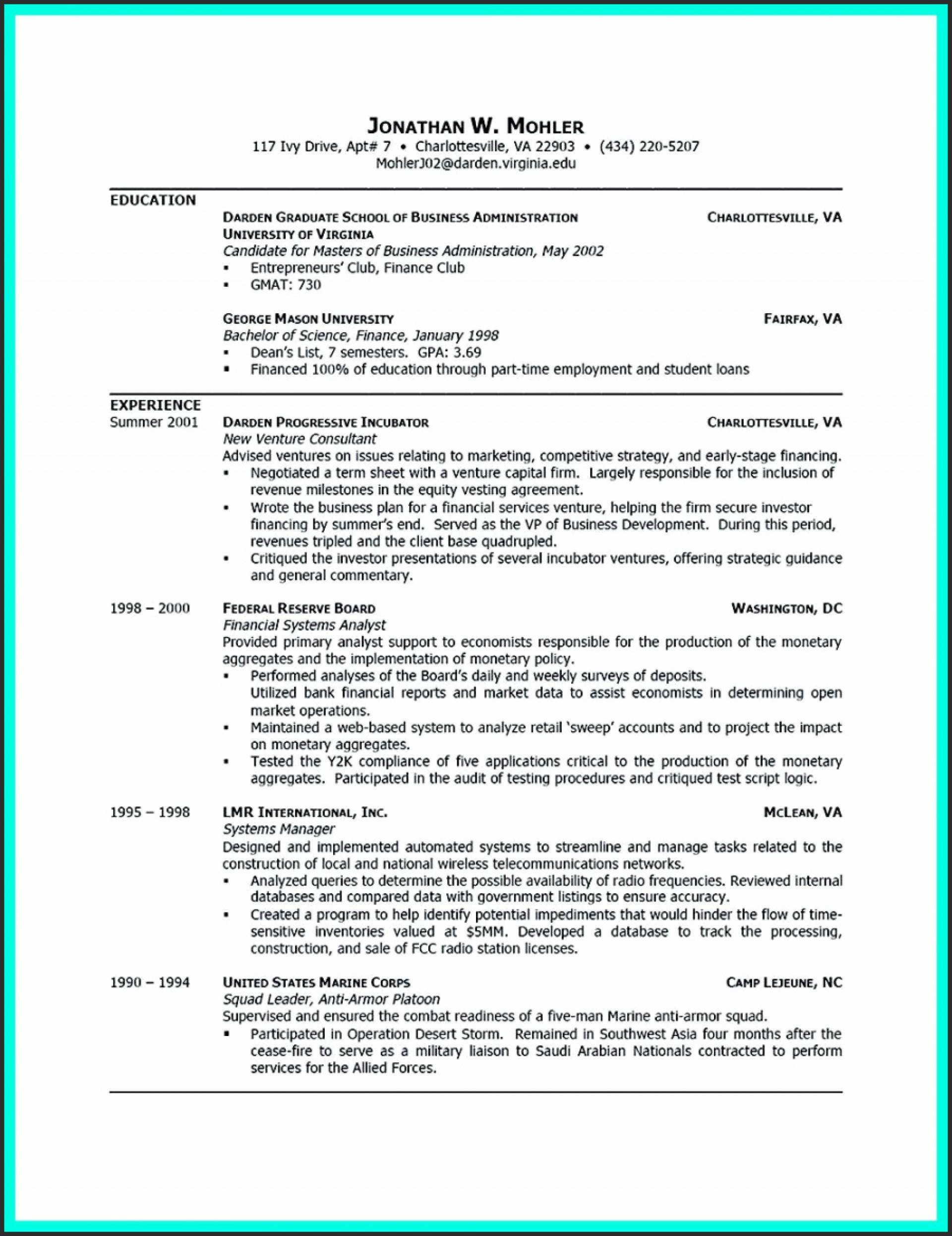 Resume Templates For College Grads