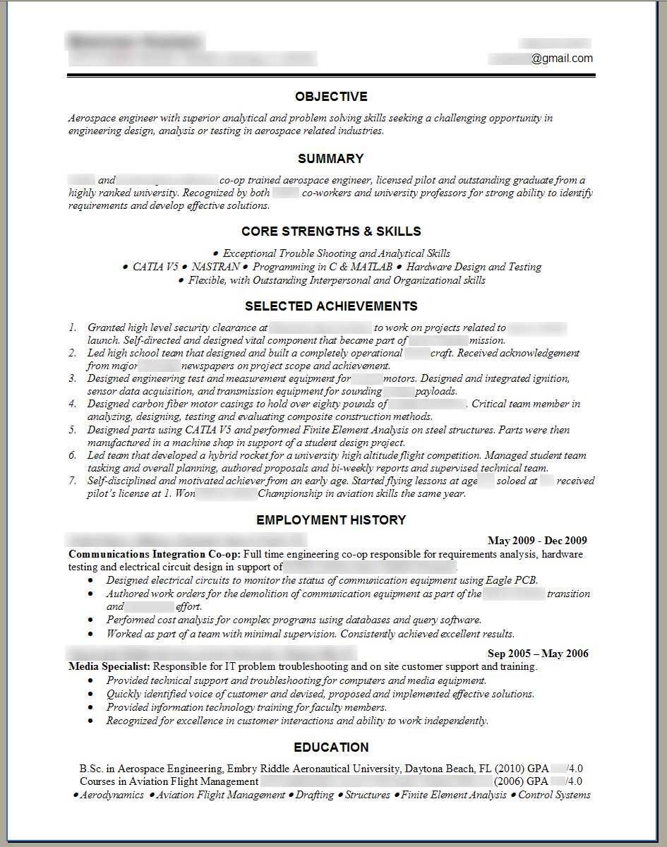Resume Templates For Experienced Mechanical Engineers
