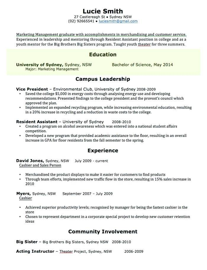 Resume Templates For Freshers 2018