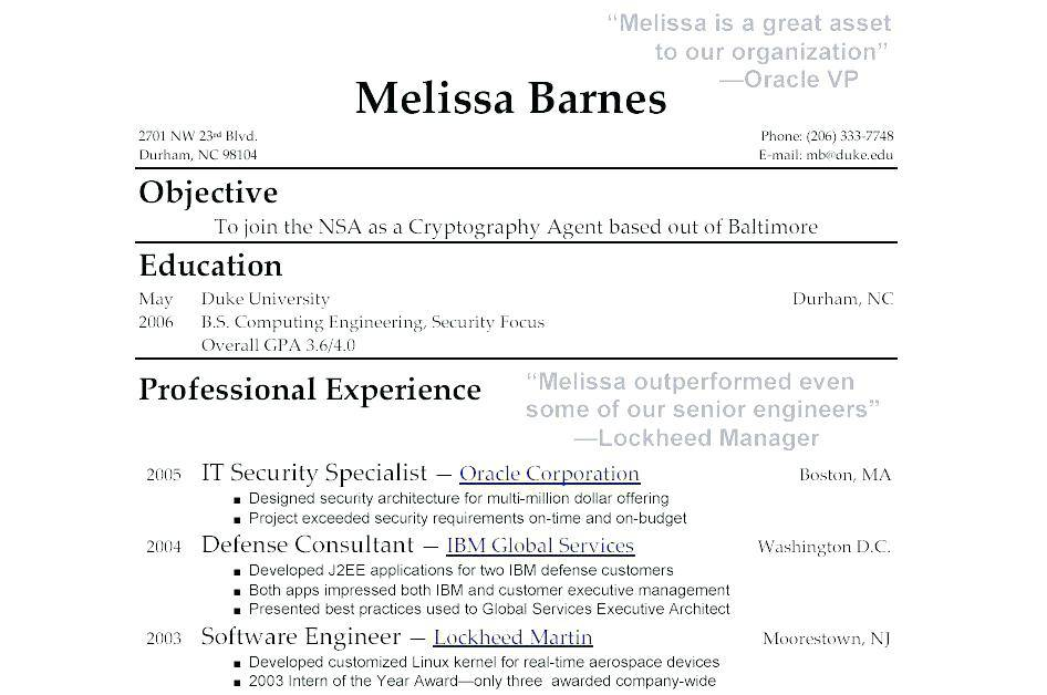 Resume Templates For Highschool Grads