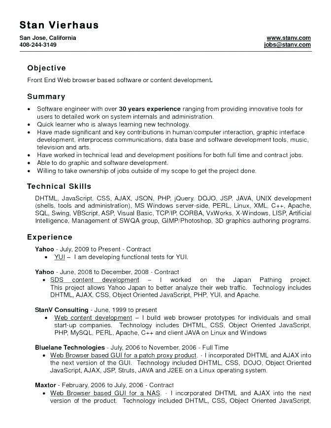 Resume Templates For Ms Word 2007
