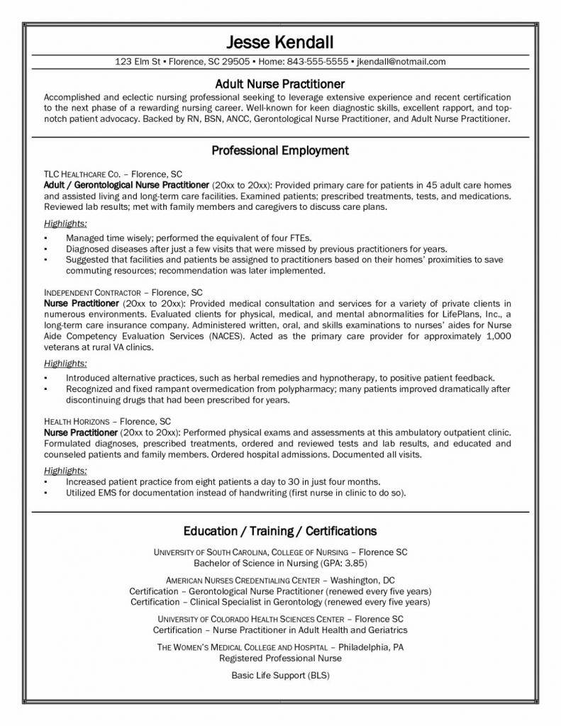 Resume Templates For Registered Nurses