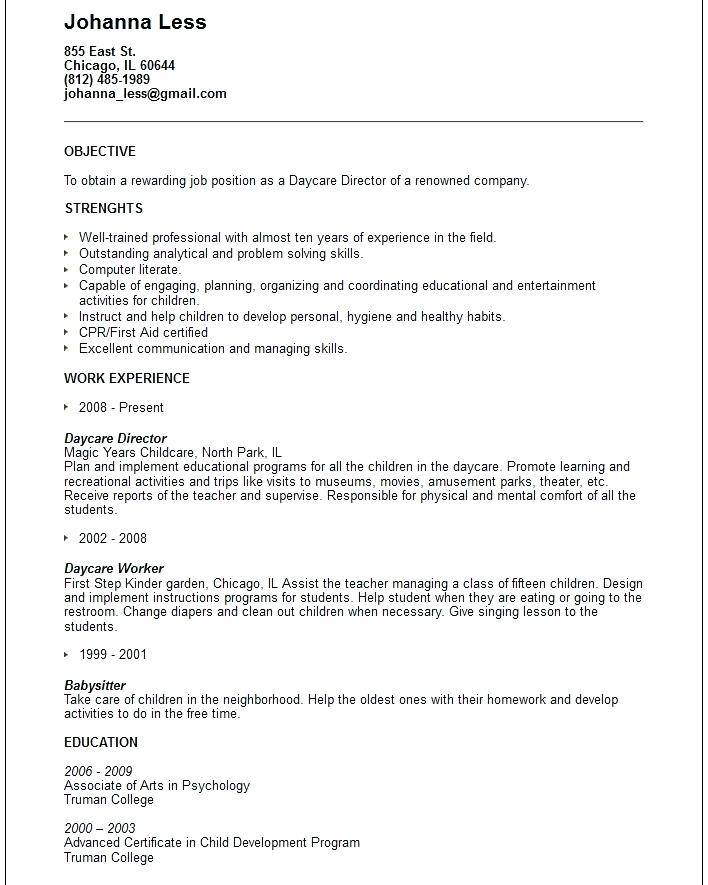 Resume Templates For Teacher Aides