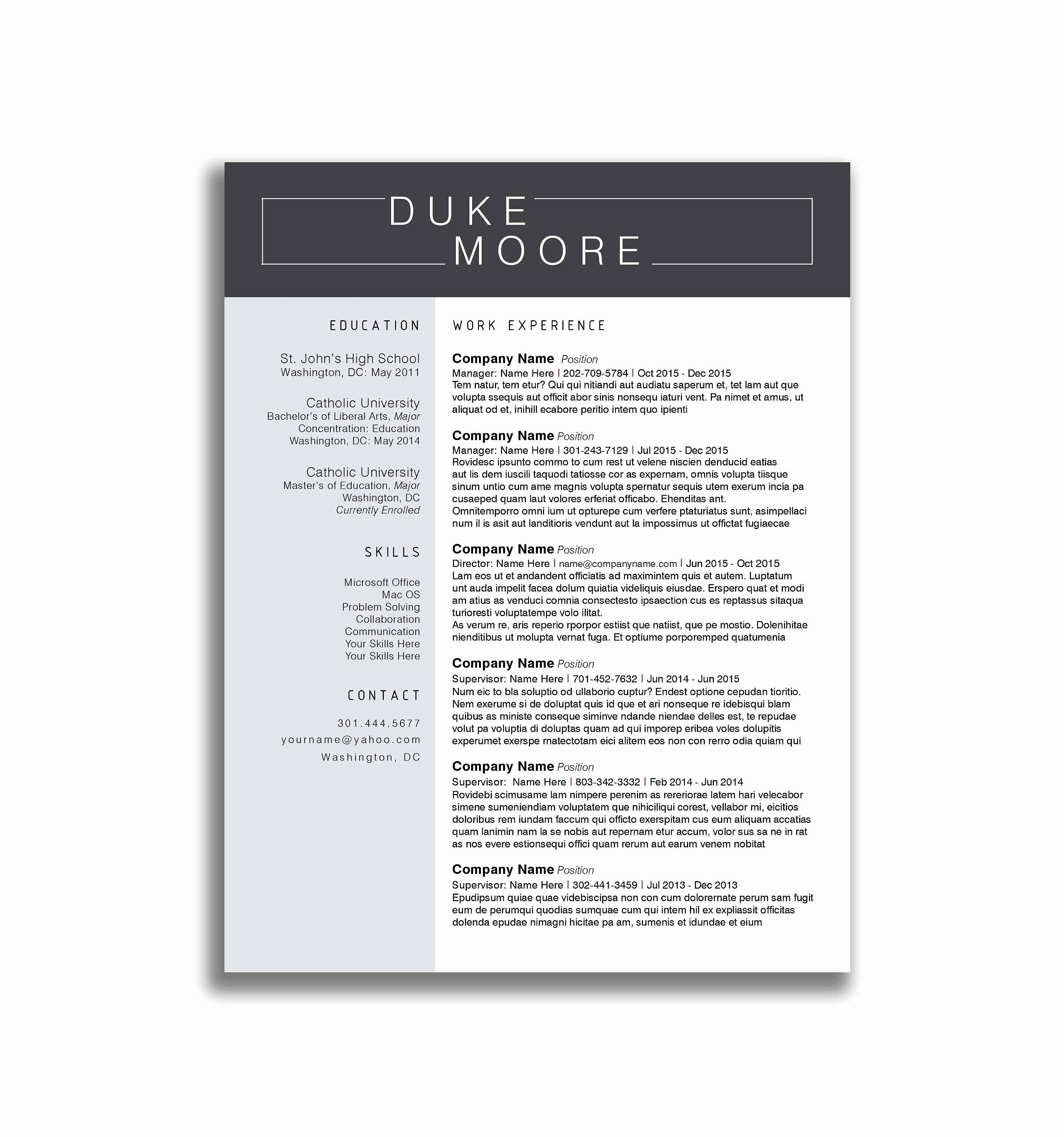 Resume Templates For Teenagers First Job