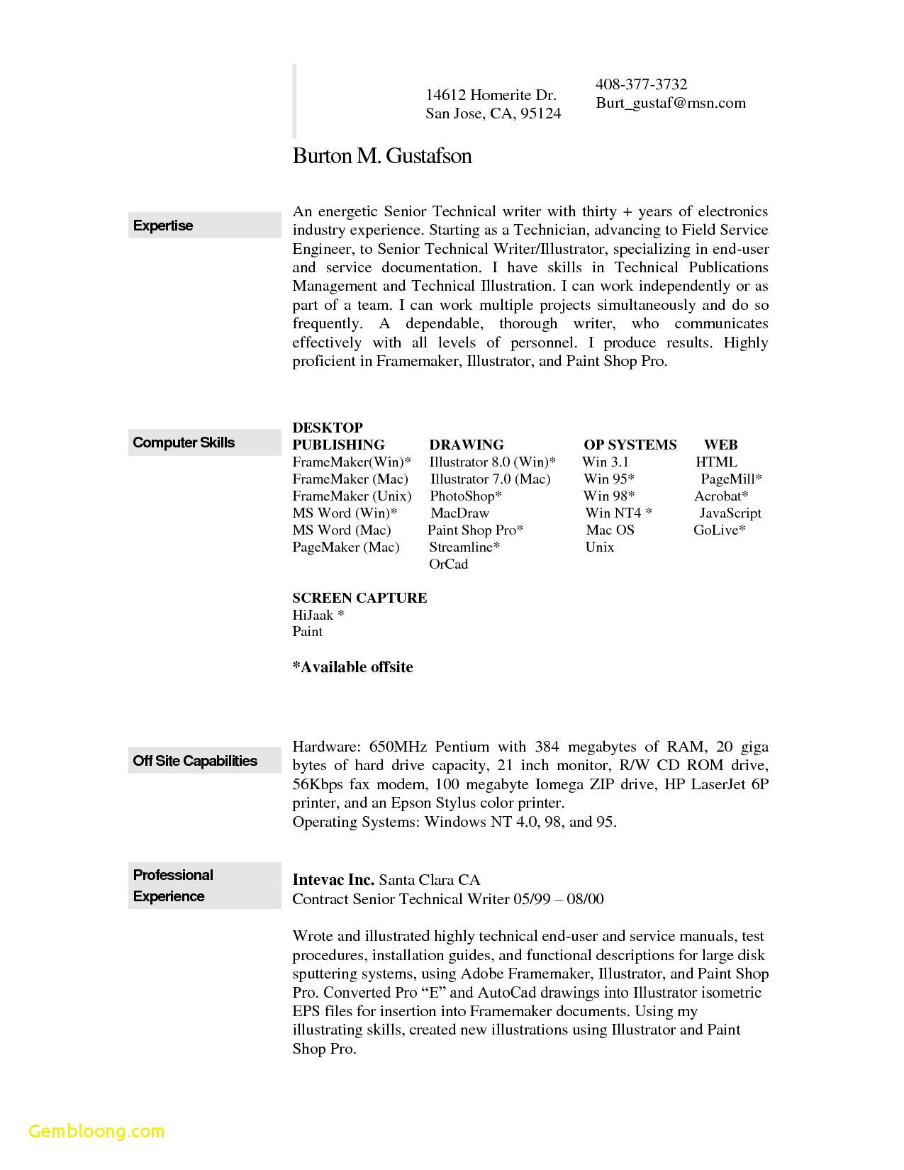 Resume Templates For Word Mac