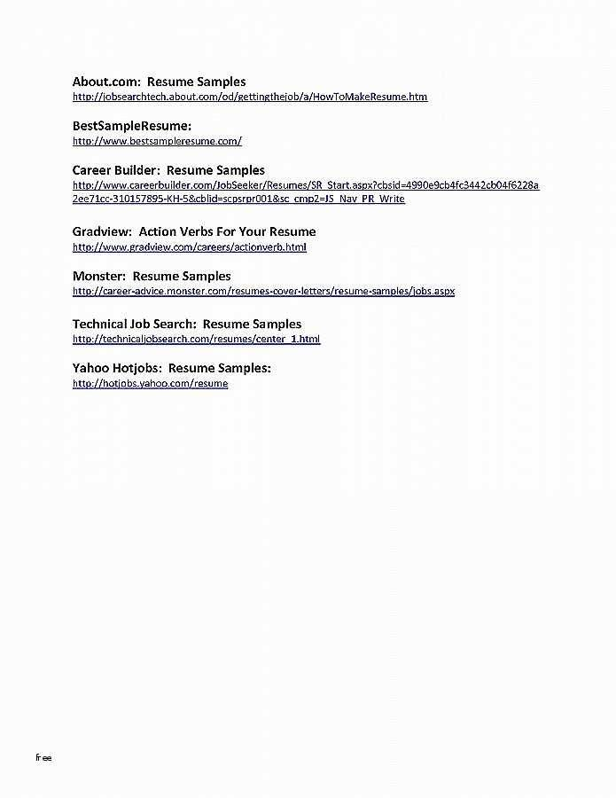 Resume Templates Military Experience