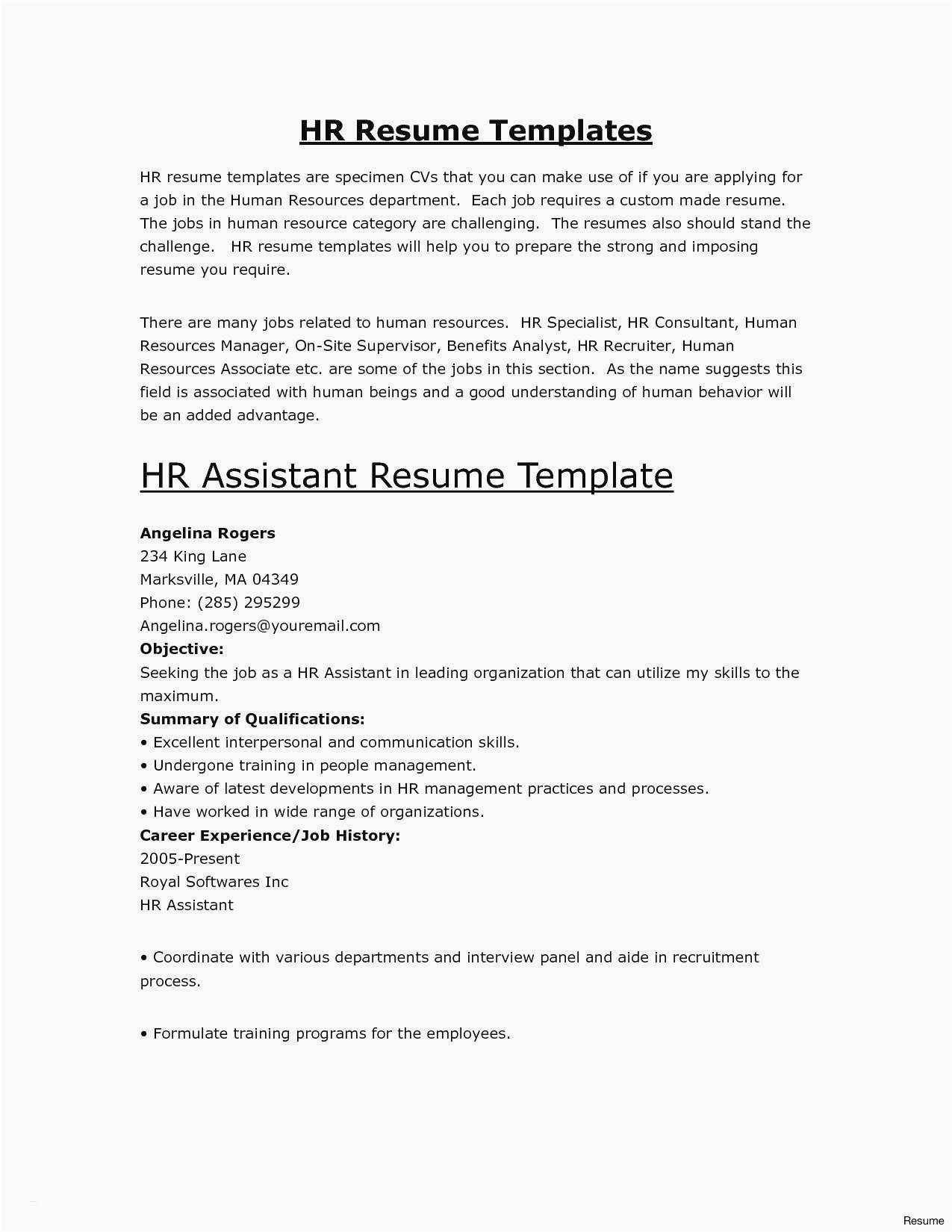 Resume Templates Samples Free