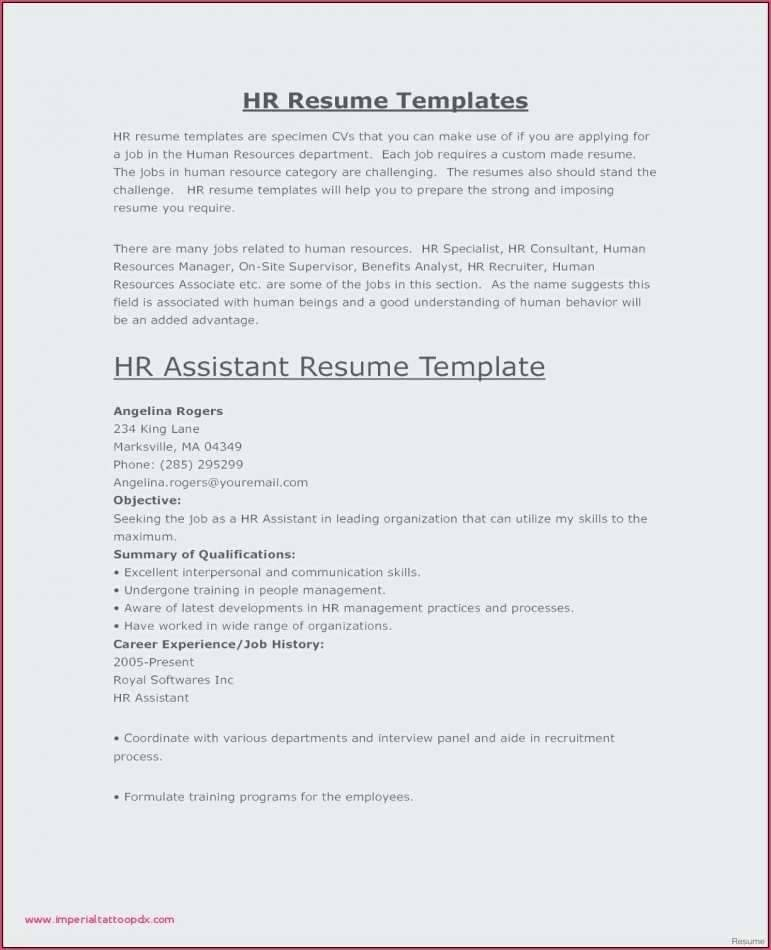 Resume Templates Secretary Receptionist