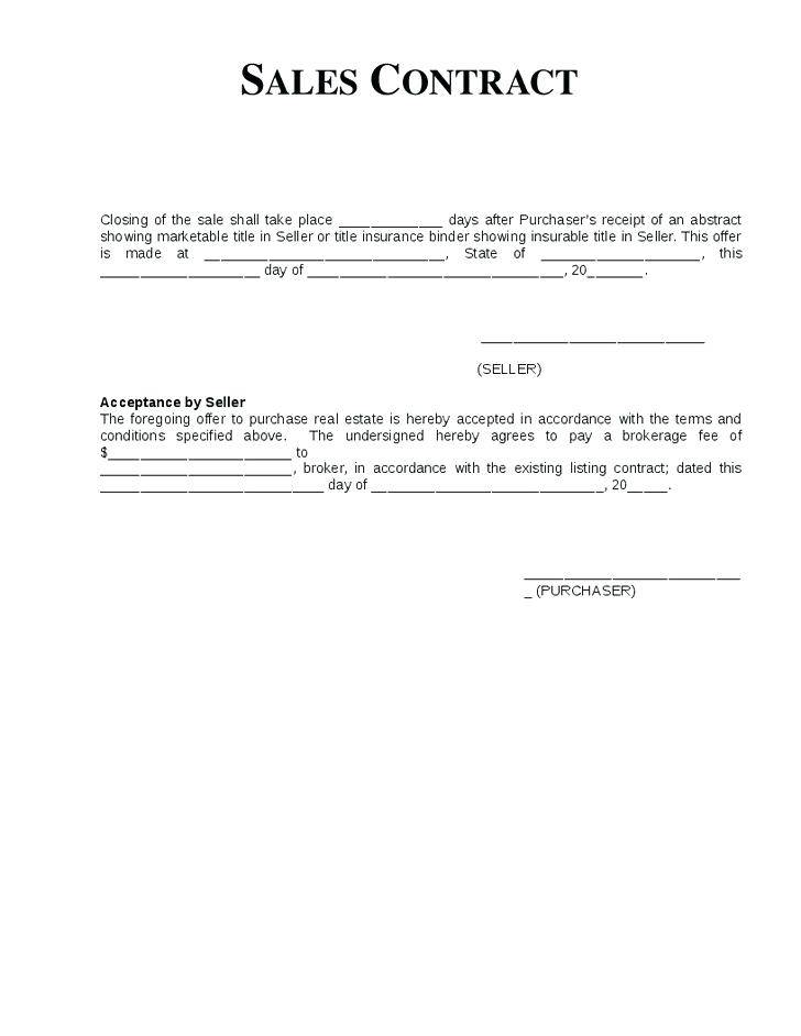 Retail Installment Sales Contract Template