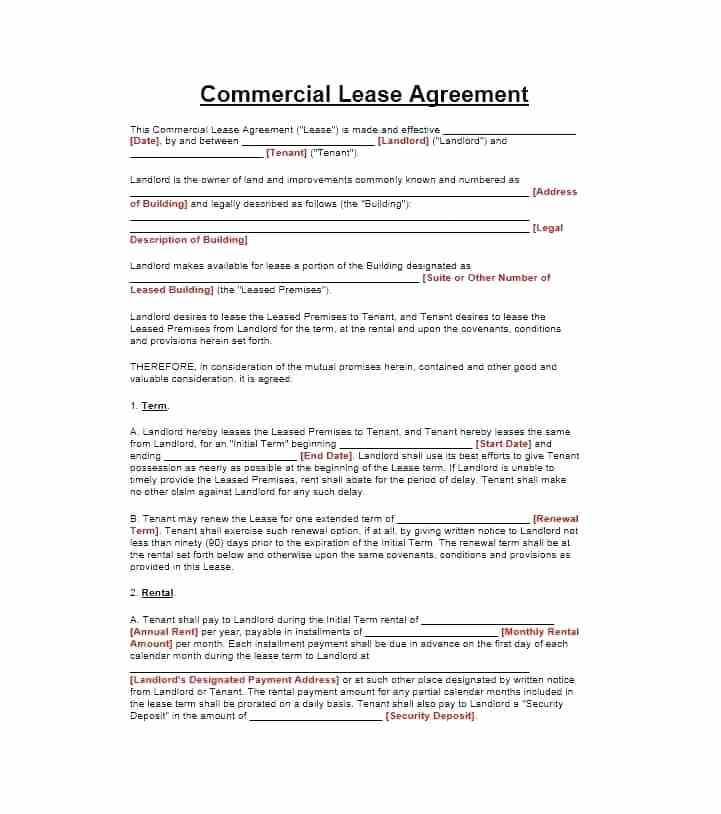 Retail Lease Agreement Nsw Template