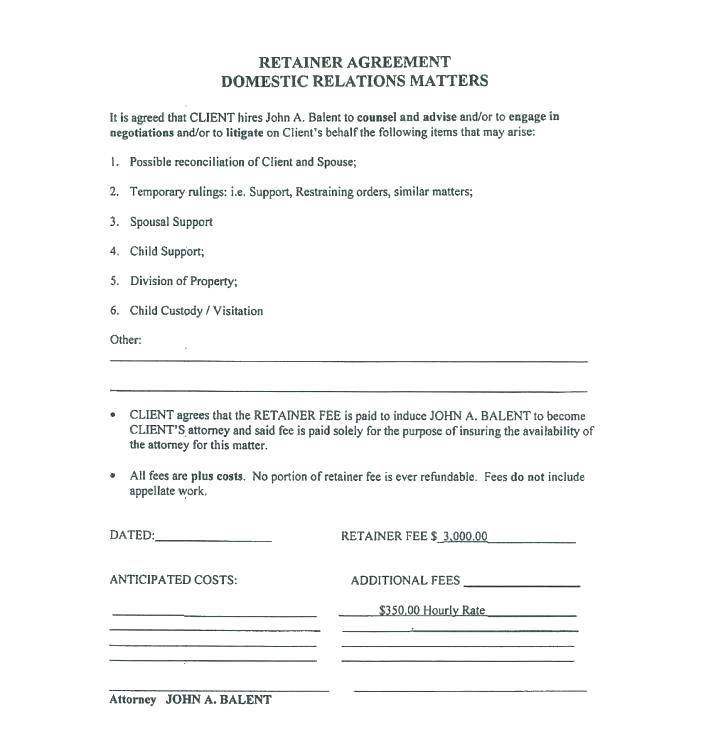 Retainer Contract Template