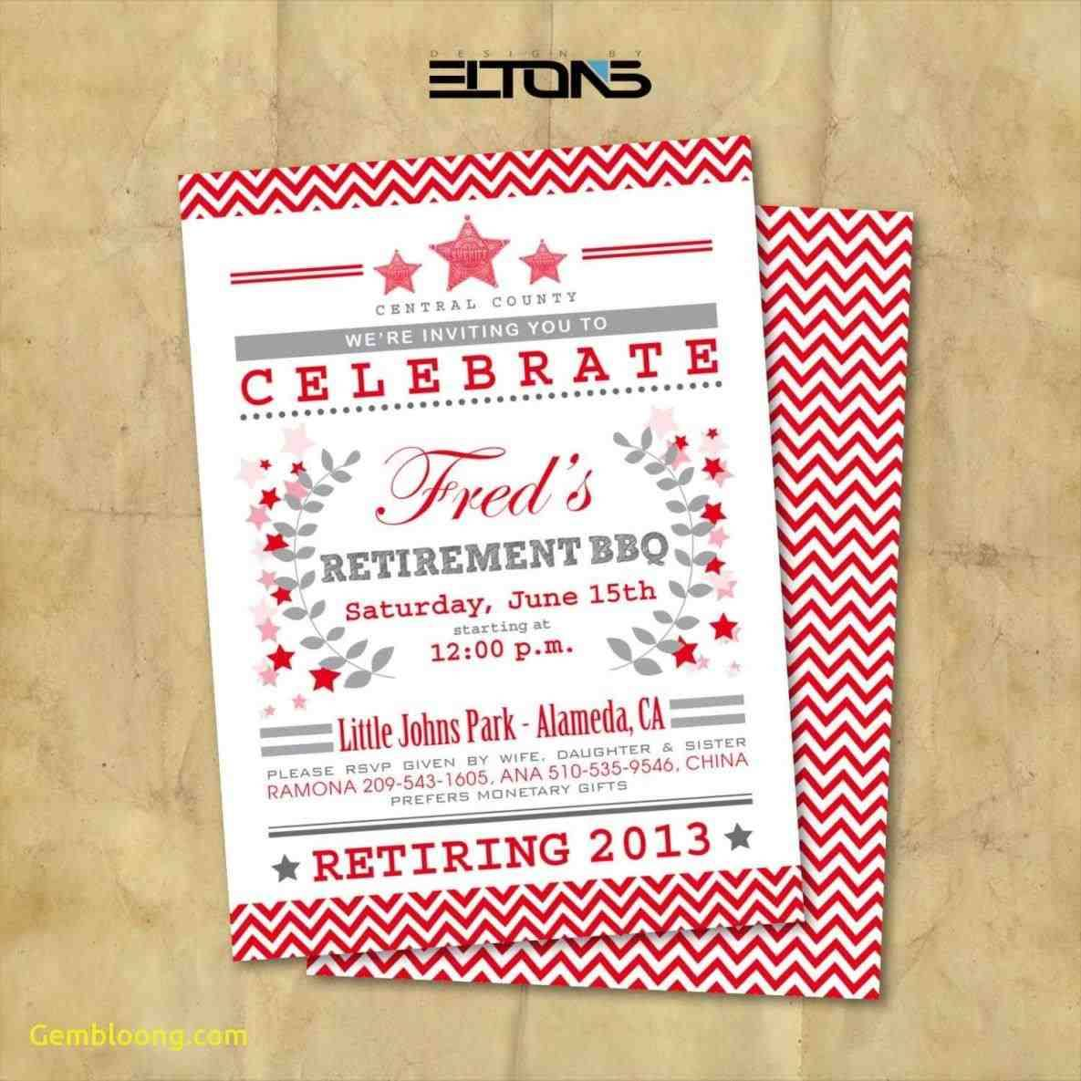 Retirement Celebration Invitation Templates